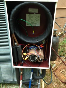 Energy Recovery Unit or desuperheater with cover removed