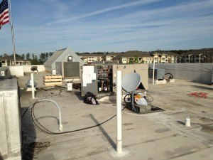 The Rooftop Package Unit – repairs underway.